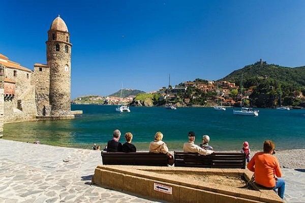 Collioure with sea view